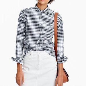 J. Crew gingham collar button down boy shirt